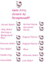 hello kitty cursors v2 by persephone89