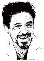 Robert Downey Jr as Tony Stark by Samvinci