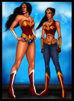 WONDER WOMAN and GOLDEN ANGEL by Brawrloxoss
