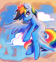 Commission: RD Pegasus Master Race by DarkFlame75