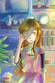Coffee Shop by coloringlight
