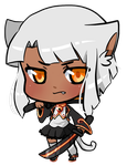 Kronilix Mini Chibi COMMISSION by pixelpoe