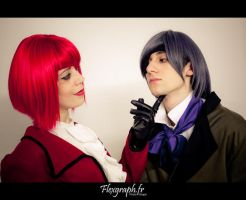 Ciel  and Madame Red by S-Seith