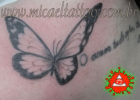 Black Butterfly Tattoo by micaeltattoo