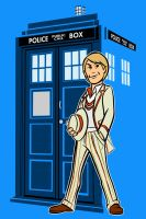 the fifth Doctor by AlanSchell