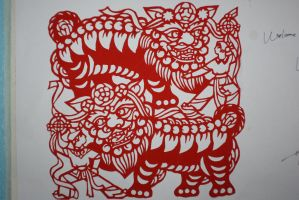 Chinese Lion Dance Cut Out by Chinesehitman