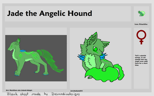 Jade the Angelic Hound Reference by PandaTJ