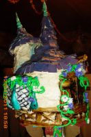 tangled tower cake close up 3 by toastles