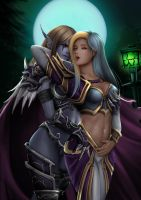 Sylvanas and Jaina by Mikesw1234