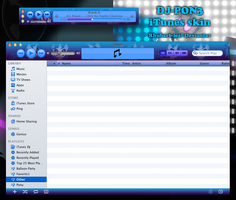 DJ-PON3 iTunes skin by rhubarb-leaf