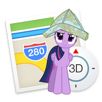 Maps Twilight Sparkle Yosemite Ponified Icon by Falcotte