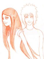 Minato and Kushina by thatreevesgirl