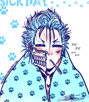 chibi GRIMMJOW: Sick day by blackstorm