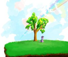 Tree on a Hill by sharpieboss