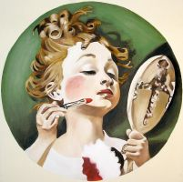 norman rockwell girl by erindurfey