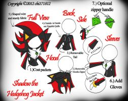 Shadow the Hedgehog Jacket by chi171812
