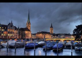 ...Zurich Night... by erhansasmaz