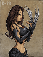 X-23 in colour by Area-44