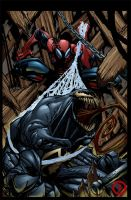 Spidey n Venom by psychoheat