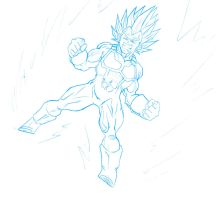 Pissed Vegeta by guerotheartist