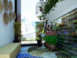 Small Terrace Design by yasseresam