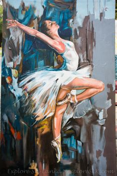 Painting of Dancing Girl by exploreSLK