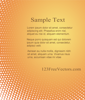 Abstract Halftone Background Vector Template by 123freevectors