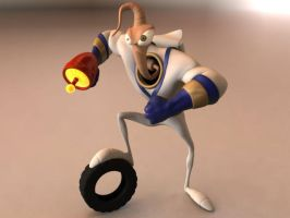 Earthworm Jim by runestudios