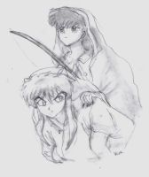Inuyahsa and Kagome, Forever.. by raemack