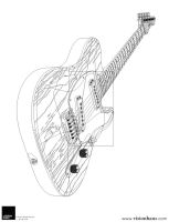 Electric Guitar Outline by VisionHaus