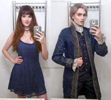 Lestat Cosplay Before and After by AlysonTabbitha