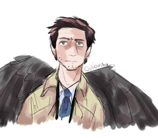 i only ever draw gay angels anymore wtf by Applemist