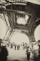 Under the Eiffel Tower by EleckAddict