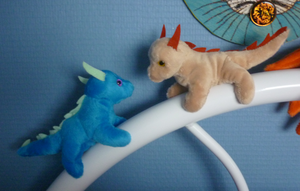 2 mini magnet dragon plushies by goiku