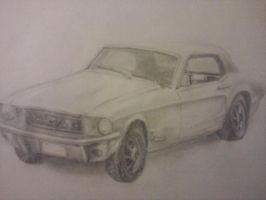 68' Mustang 428 Jet by Gnaffdaz