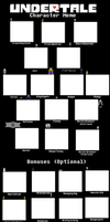 Undertale Character Meme Template (HUGE UPDATE) by Stocking-Star