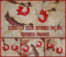 Zelda Skyward Sword Fireshield Earrings - Cosplay by YellerCrakka