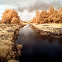 River Pinnau infrared by MichiLauke