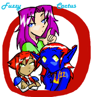 Fuzzy Cactus emblam by Chibi-Angelwolf-chan