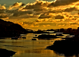 Sunset Over The Clachan Bridge -HDR- by IoannisCleary