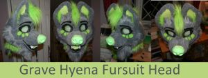 Grave Hyena Fursuit Head Commission by GoldenCat22