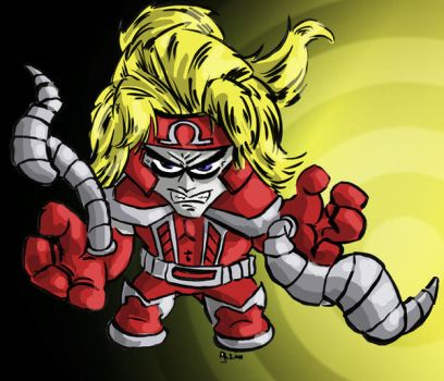 Chibi Omega Red by aReino