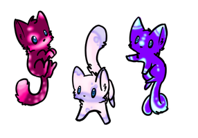 More GLOW kittens: CLOSED! by XxSilverWebAdoptsxX