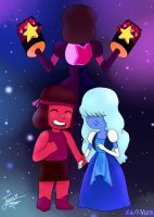 Steven Universe-Garnet is a fusion by Jenny-aisuu