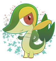 Snivy by ecokitty