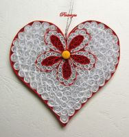 Quilled Heart by pinterzsu