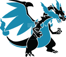 Mega Charizard X Vector by TeslaLollipop