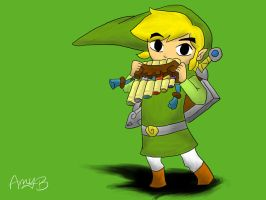 Toon Link by Kumadawg