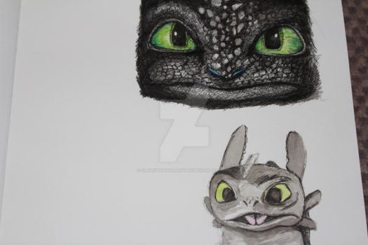 Toothless sketch page W.I.P by Clairvoyantartistry