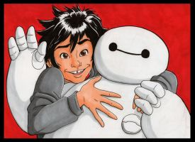 Hiro and Baymax by Jaymzeecat